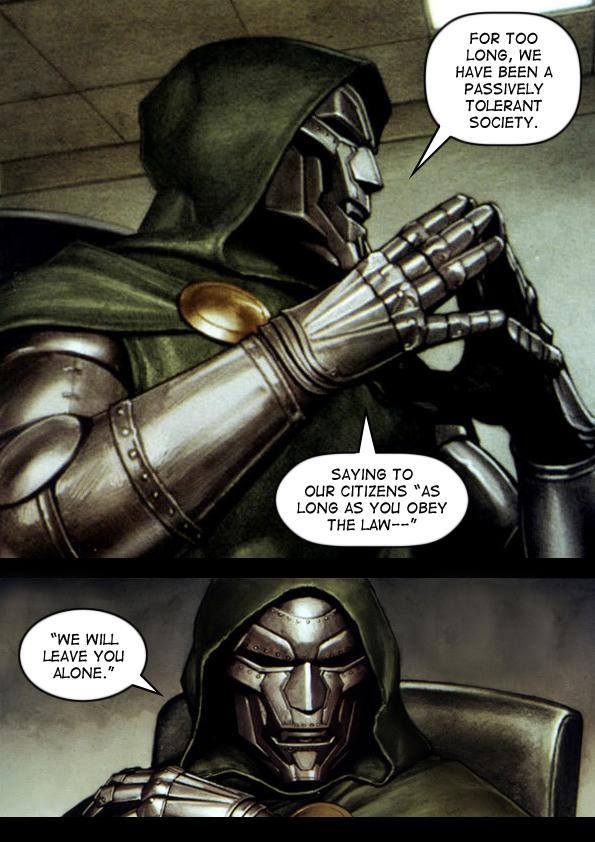 Somehow, it doesn't seem so bad when a comicbook supervillain says it.