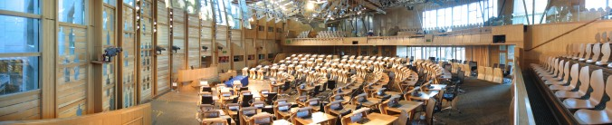 The Debating Chamber of the Scottish Parliament Building. Source: Wikipedia