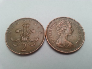 Two Decimalisation era 2p coins found in my pocket whilst writing this article.