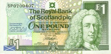 £1 Note - Scottish Parliament Commemorative Issue