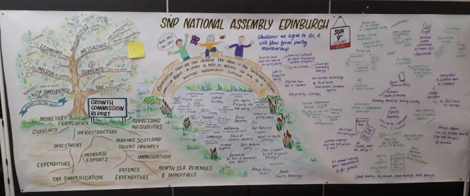 The Ideas Board from the Edinburgh National Assembly.